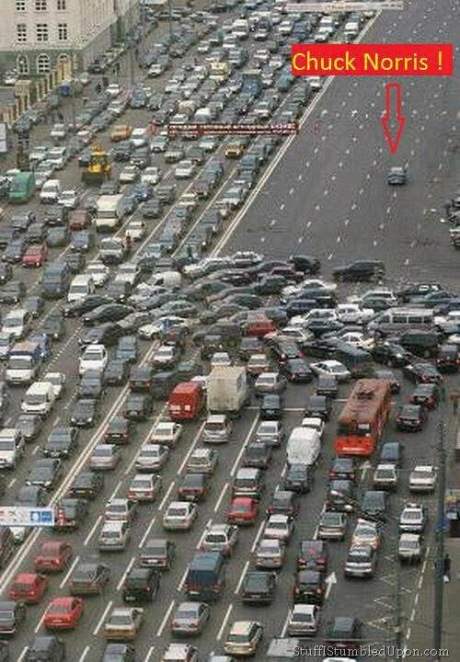 chuck-norris-meme-joke-cars-car-traffic-jam-what-causes-traffic-jams