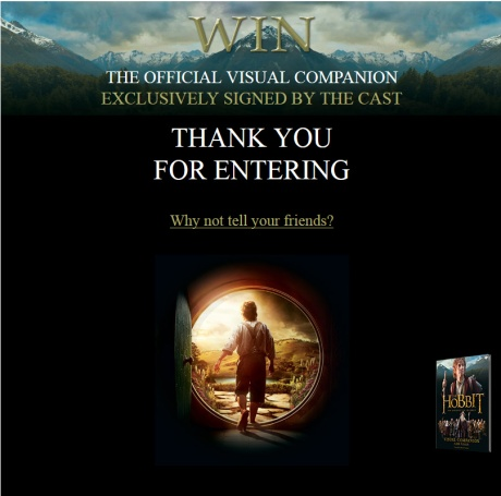 Hobbit Companion Signed by Cast Contest