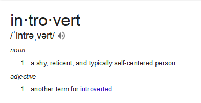 GoogleDefinitionofIntrovert