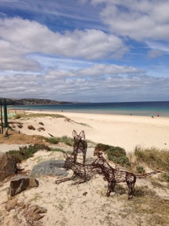 A beautiful beach in Adelaide